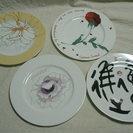【 未使用 】♡フェリシモ 個性的なイラストの皿4枚
