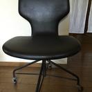 交渉中〜コマ付きチェア(ローラー付き、椅子)☆黒
