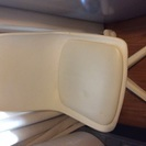 真っ白❗️デスクチェア椅子◆キャリー良好◆レバー式ガス圧で座面上下...