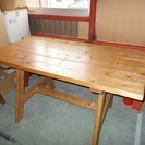 木製テーブル 脚付(1脚タイプ) 中古品
