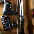 完売】スキー用品セット 板3靴3棒2 バラ売り可