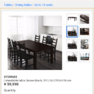 お値下げしました!IKEA ダイニングテーブル 伸長色 4~6人