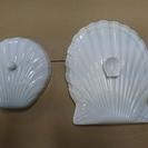 貰ってください[無料]陶器製の貝の形をした蓋です。沢山あります。