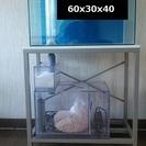 オーバーフロー水槽 水槽台 濾過槽 ポンプ 濾材 4/20追記:ヒ...