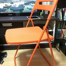 IKEA 折りたたみ チェア 椅子 オレンジ