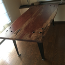 一枚板のかっこいいテーブル  最終値下げ!