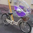 【交渉中】子ども前乗せ自転車(レインカバー、後ろカゴ付き)