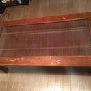 ウッド/ガラス ローテーブル