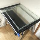 【交渉成立】【美品】【ガラス天板パソコンデスク】 幅80cm ガラ...