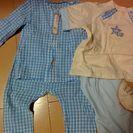 80パジャマ半袖と長袖セット