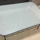 【交渉中】ガラスローテーブル (IKEA KLINGSBO)