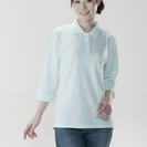 在庫処分 新品 レディース 七分袖ポロシャツ3色3枚組 新品 在庫処分品