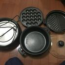 電気グリル鍋 たこ焼き 鍋 鉄板焼き
