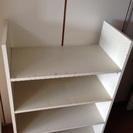 差し上げます。東急ハンズの木製白い棚