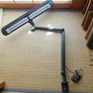 ダブルデスクライト ナショナル 蛍光灯2本 照明 机に挟むタイプ ...