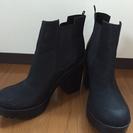 美品 サイドゴアブーツ 黒