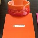 ルクルーゼ ペット 食器 オレンジ Mサイズ