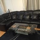 5月29日引取限定、値段交渉可能‼︎【革製ソファセット&テーブル】...