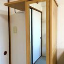 【至急】鏡付きハンガーラック