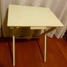 折りたたみテーブル(木製/オフホワイト)