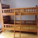 宮付き2段ベッド 梯子付き