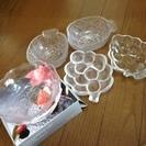 差し上げます 新品・中古品ふぞろいのガラス皿たち