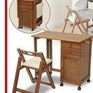 YAMAZEN 折りたたみ机と椅子のセット1