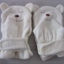 ■赤ちゃん用ミトン手袋 2組■ あったかミトンくまさん 赤ちゃん ...