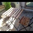 IKEA  ベランダテーブルセット