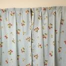 カーテン 二枚組 レースカーテン付き