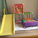 幼児用トランポリン&すべり台