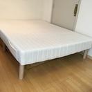 【取引終了】美品ダブルベッド(脚高25cm ベッド下収納可能)