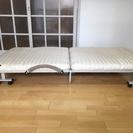 【取引終了】折りたたみシングルベッド(カラー:アイボリー)