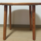 【ご成約済】木目サイドテーブル