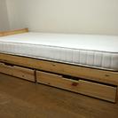 無印良品 パイン材シングルベッド 引出し&マットレス付