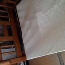 木製2段ベッド。ベット下板部の布は、新規張り替え済み。