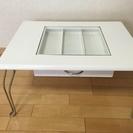 【取引終了】小物収納つきテーブル (カラー:ホワイト)