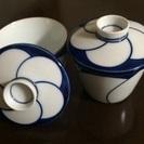 白山陶器 ねじり梅 茶碗蒸碗 2客