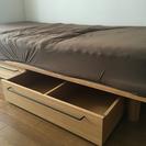 マットレス付 無印良品シングルベッド