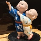 博多人形・仲良し兄弟