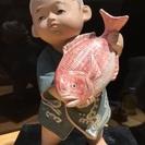 博多人形・鯛を持った少年