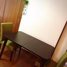 ダイニングテーブルと椅子イス2脚