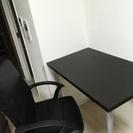 IKEAテーブル&回転椅子set美品