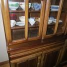 値下げしました! 【美品】アンティークな食器棚 収納たっぷりOK!...