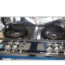 中華レンジ S-2225 (2連、2重、受皿付) 都市ガス12・1...