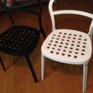 IKEA チェア ブラック&ホワイト