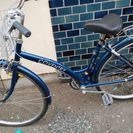 紺色の自転車
