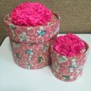 かわいい筒の箱  ピンク