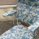 美品★折り畳み座椅子(イス)肘置き付き 高齢者用などに★
