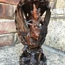 ガルダとヴィシュヌ像 木彫り【バリ島】